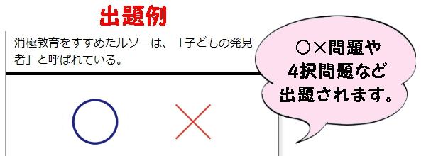 保育原理外国人出題例2