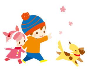 動物と遊ぶ子