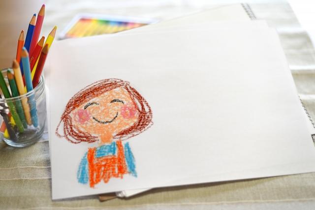 色鉛筆で描いた絵