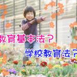 学校教育法と教育基本法の違い☆見分け方のポイント